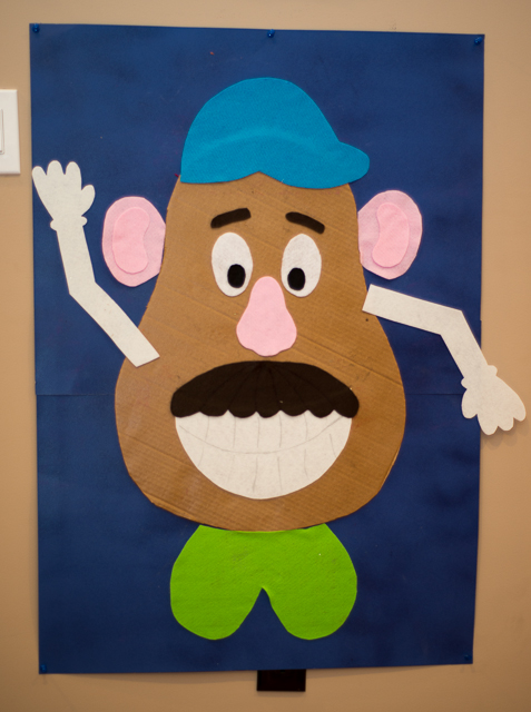 mr potato head felt template - diy potato head felt party game taking on today