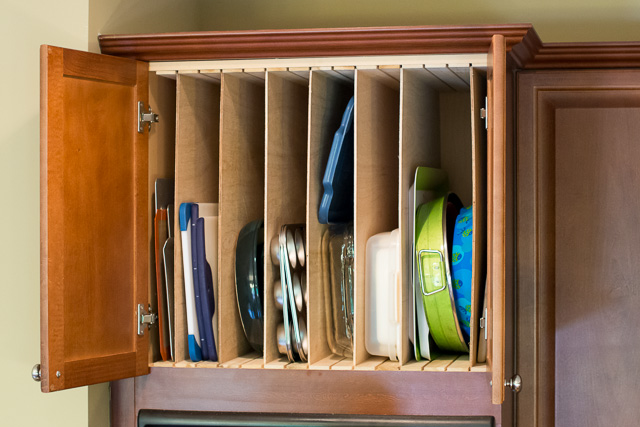 Kitchen Diy Adding Cookie Sheet Amp Tray Storage Above The